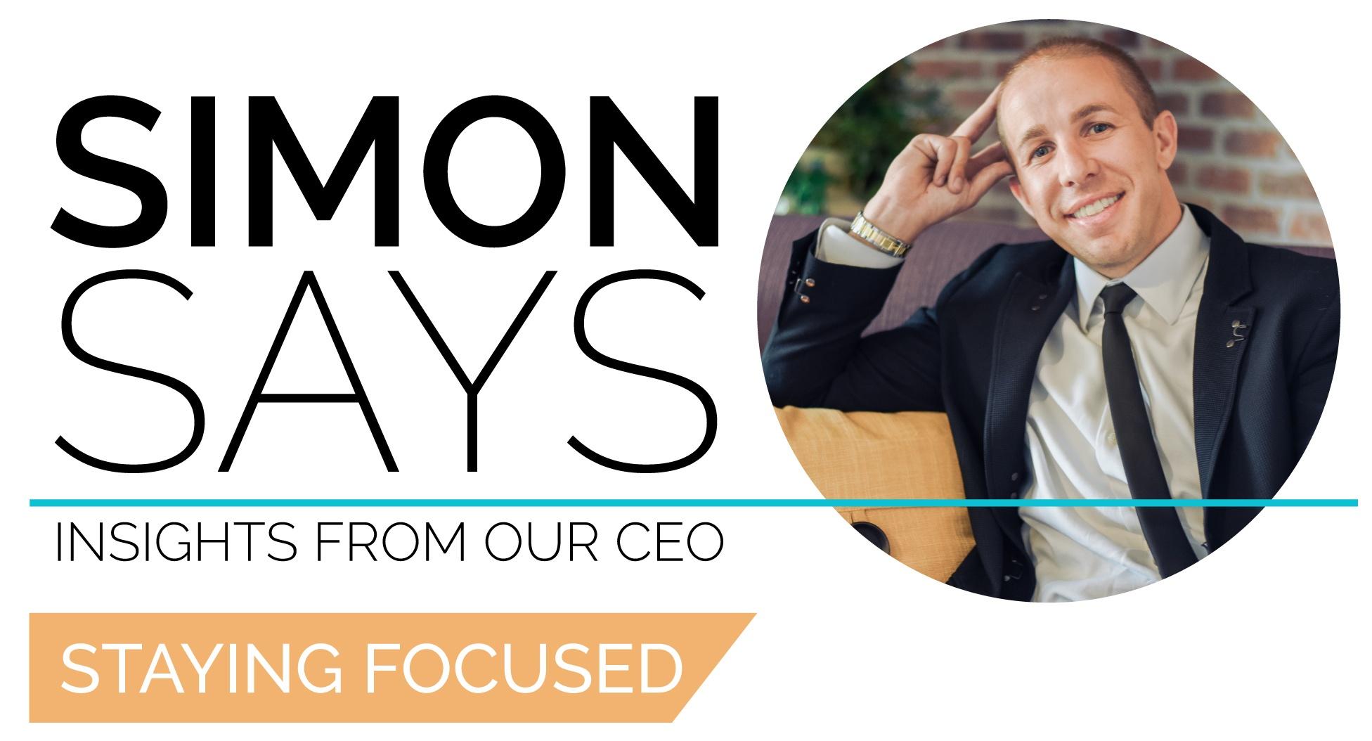 Joshua Simon Simon Says Staying Focused
